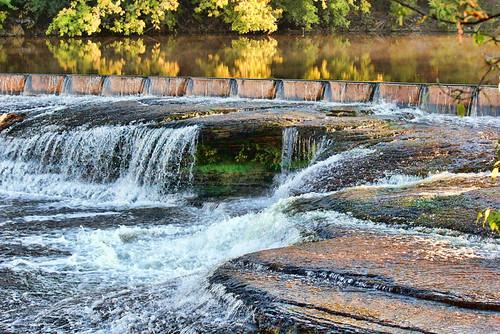 weir river almonte ontario rocks waterfall autumn