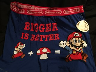Super Mario - Biger is Better Boxer Shorts | by Tanooki's Stuff