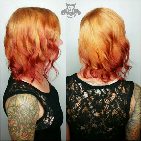Fire Balayage🔥Shaved Side Bob Haircut🔥 Reverse Ombre   Flickr