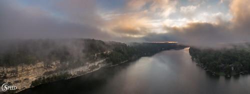 claytorlake virginiatourism radford dronephotography aerialpanorma sunrise aerialphotography dehavenpark virginialakes virginialandscapes michaelspeed djiphantom3pro