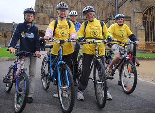 Sherborne Ride + Stride cyclers | by The National Churches Trust