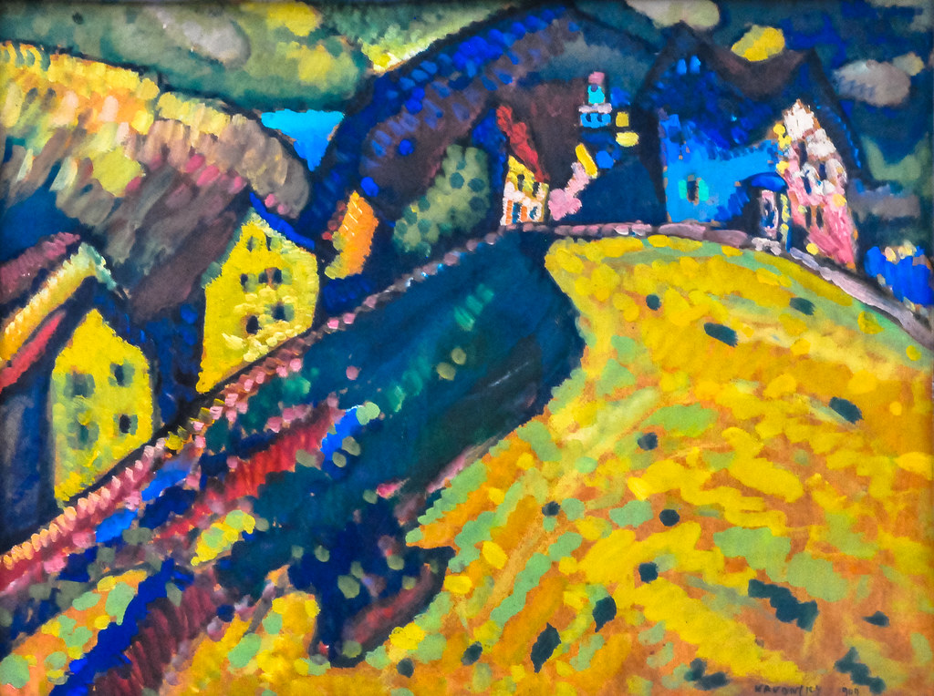 Wassily kandinsky picture with a circle