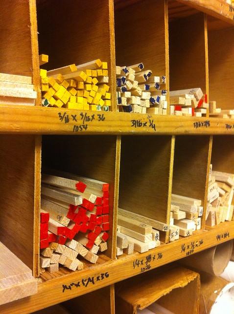Buying lumber at Franciscian Hobbies