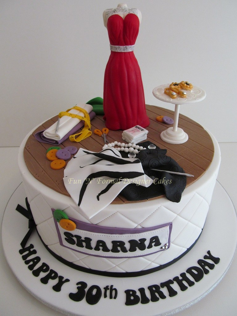Terrific Fashion Designer Themed Birthday Cake Sharna Is An Up And Flickr Funny Birthday Cards Online Alyptdamsfinfo