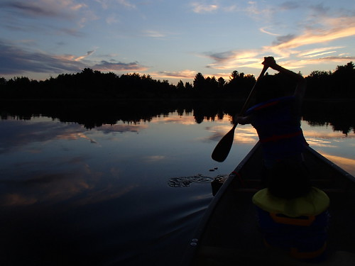 sunset lake ontario canada reflection water ottawa smooth paddle canoe dunrobin zjmac
