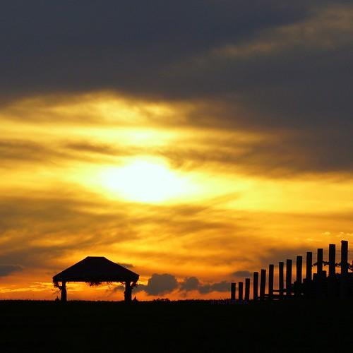 sunset nature countryside blinkagain