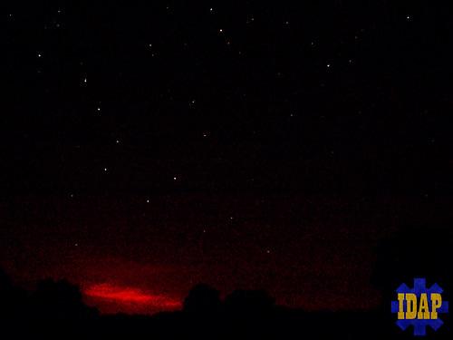 sunset stars major big ursa constellation dipper