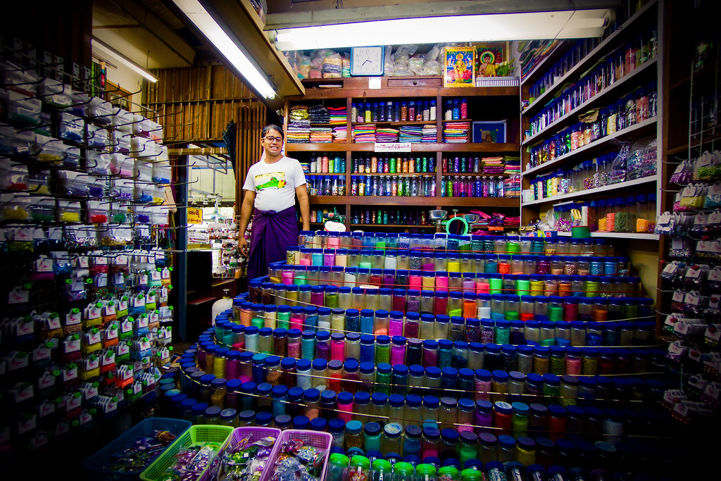 Nappikauppa Yangonissa, Myanmar