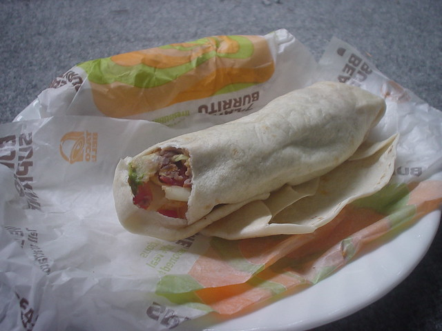 Taco Bell 7 layer burritos