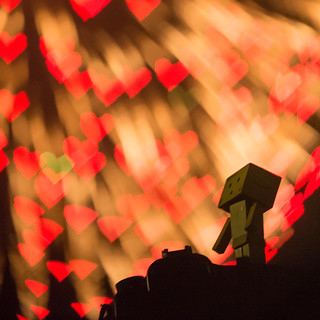 Danbo enjoys the fireworks of LOVE | by Takashi(aes256)