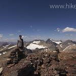 Tim on Iceberg Peak looking north