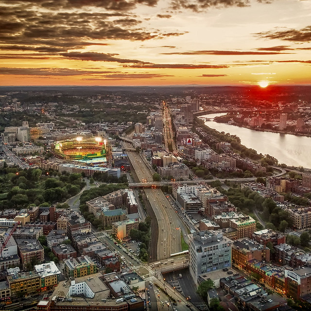 Fenway Park in the Sunset