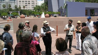Richard Schave with tour guests in Pershing Square | by richardschave