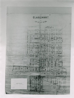 Map of Claremont in 1887