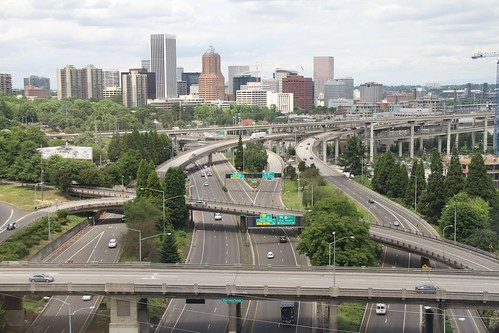 I-5 and downtown from Portland Aerial Tram 2 | by Ian YVR
