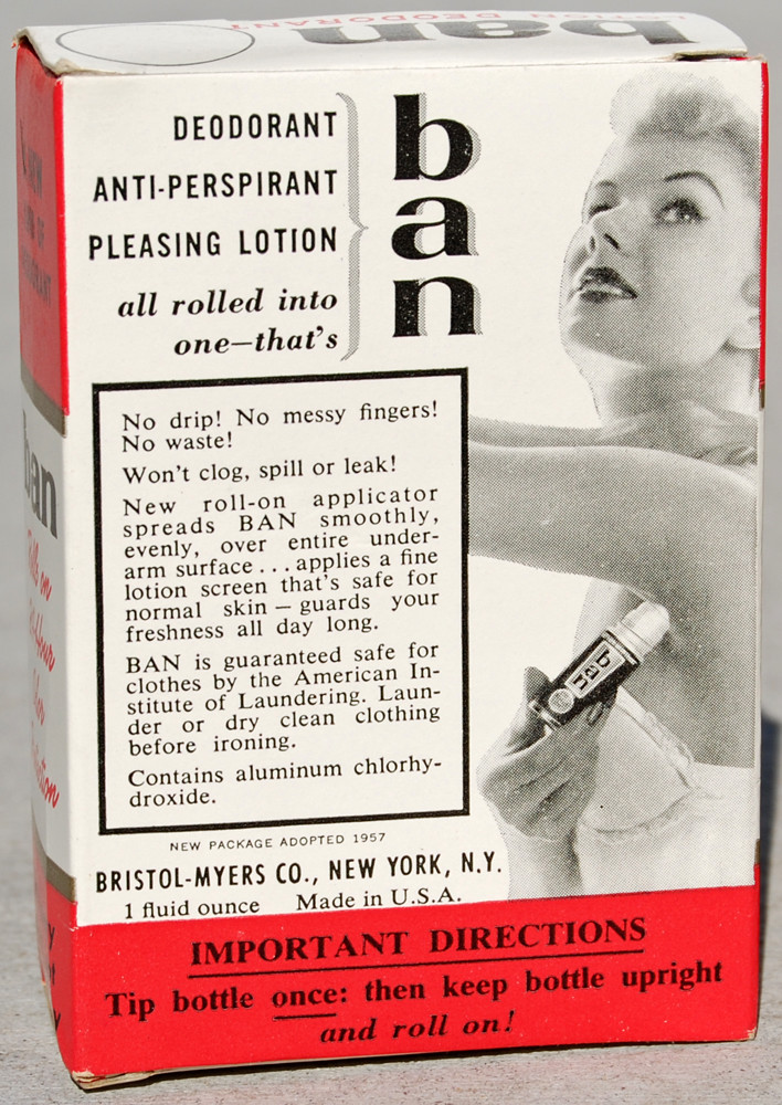 New Ban Roll-on Deodorant, 1957