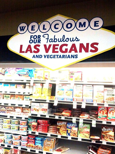 Welcome to Las Vegans and Vegetarian, Whole Foods fake meat section, Las Vegas, NV, USA   by gruntzooki