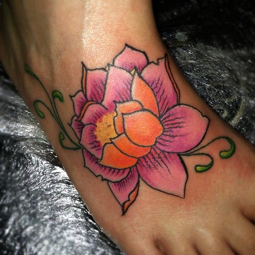 Lotus flower on foot | by Sean Miller Artwork