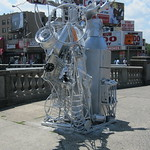 Tue, 12/07/2011 - 1:09pm - Marche's first sculpture standing on Grand Concourse and E. Fordham Road.
