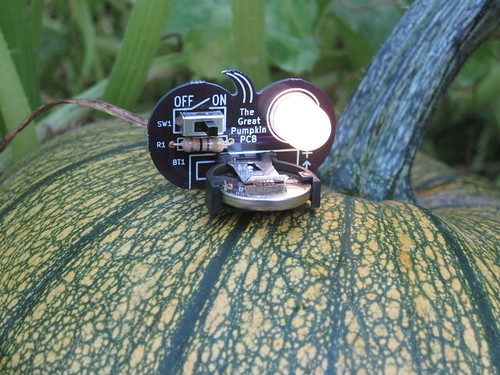 The Great Pumpkin PCB on a pumpkin! | by Low Voltage Labs