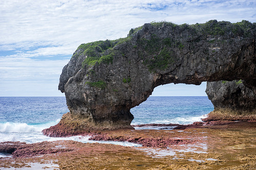 niue island pacific travel traveldestinations holiday vacation rock arch sea ocean coral reef