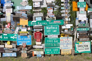 Seattle to Anchorage: Sign Post Forest in Watson Lake, Yukon