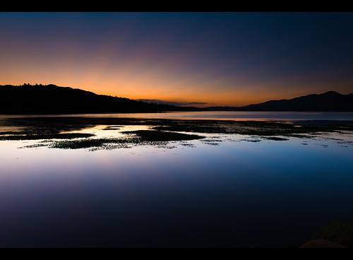 california lake mountains color water sunrise 2012 bigbear d800 ndgrad