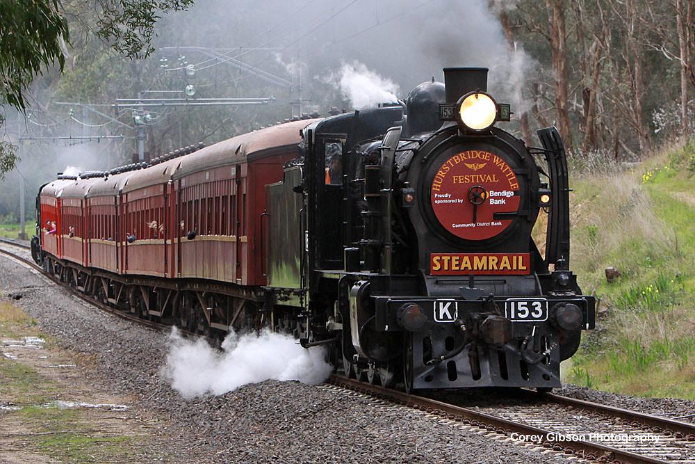Hurstbridge Wattle Festival Steam Shuttle by Corey Gibson