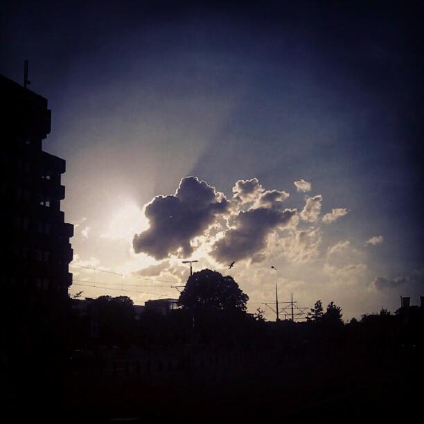 backlit clouds