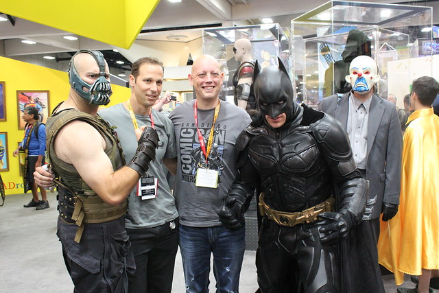 David Finch with Bane, Batman and friends.