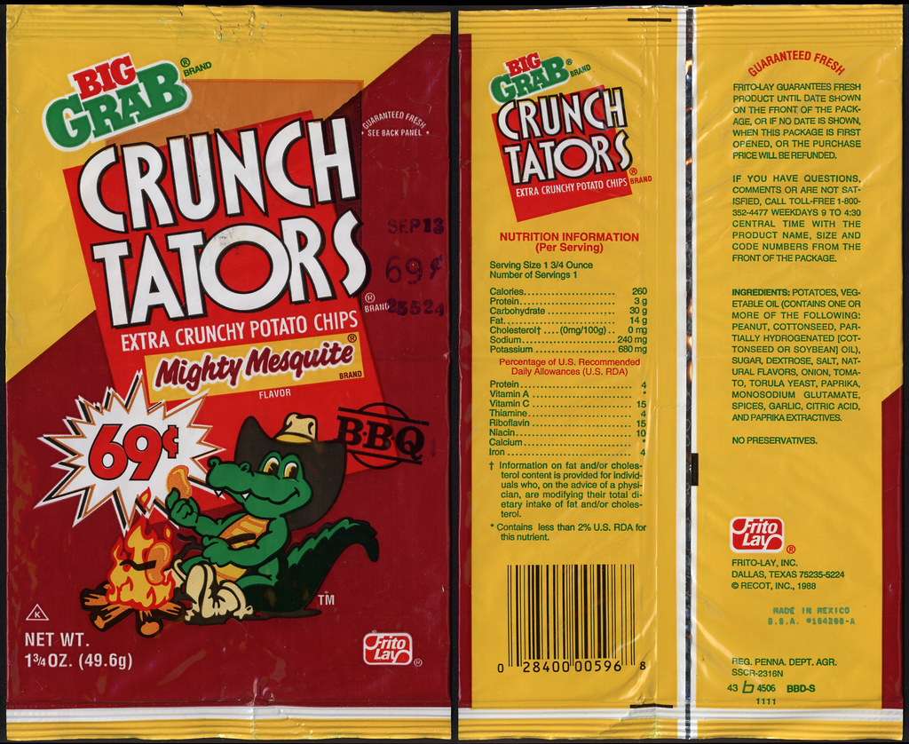 Frito Lay Crunch Tators Mighty Mesquite 69 Cent Big Flickr