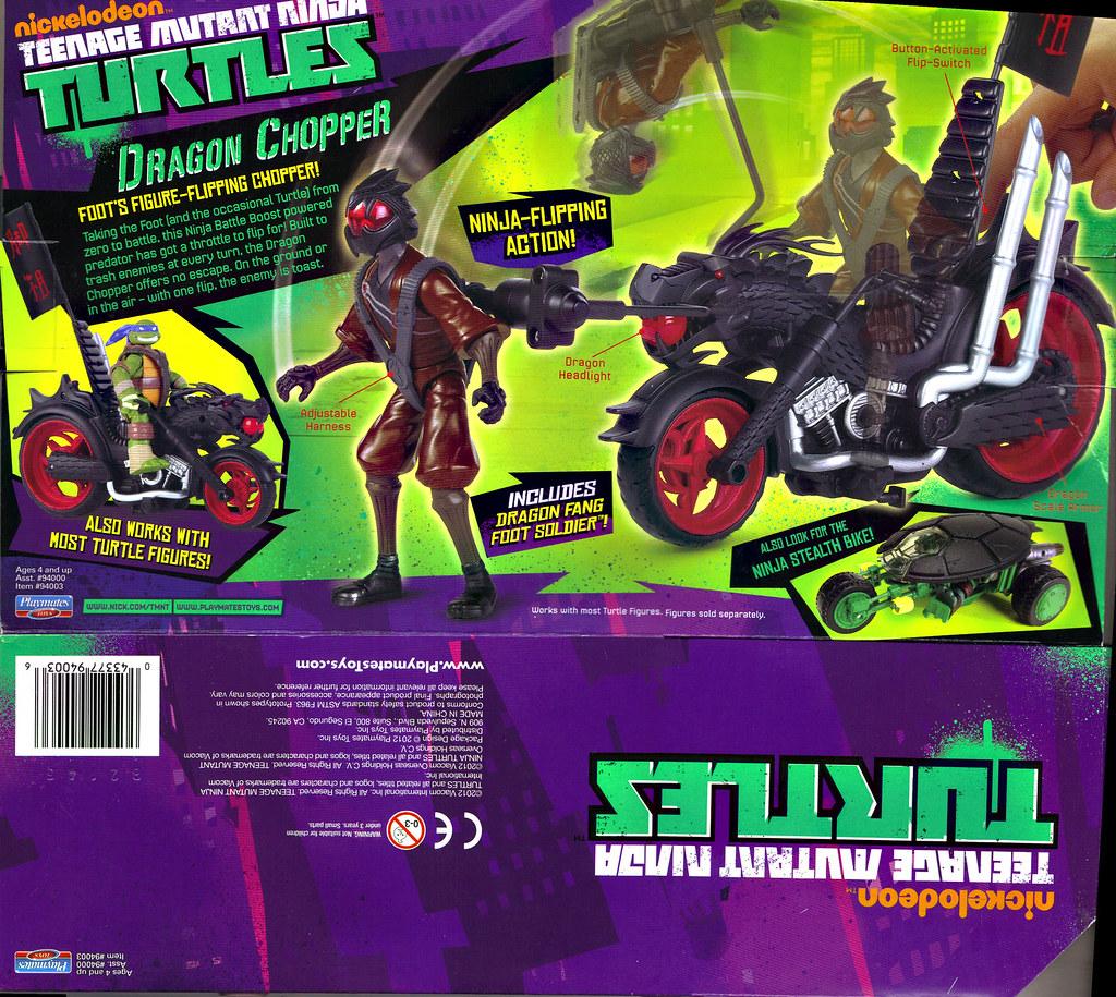 Nickelodeon  TEENAGE MUTANT NINJA TURTLES :: DRAGON CHOPPER ..box ii (( 2012 )) by tOkKa