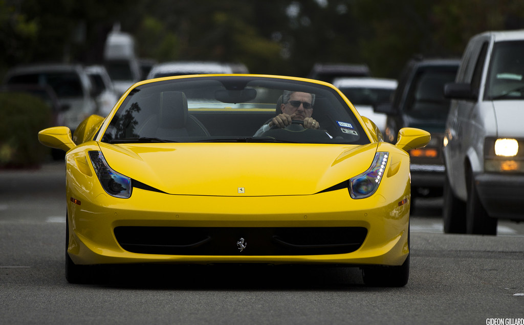Ferrari 458 Spider Love It In Yellow Gideon Gillard Flickr