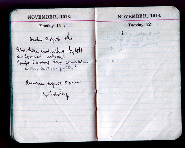 A page from grandad's diary