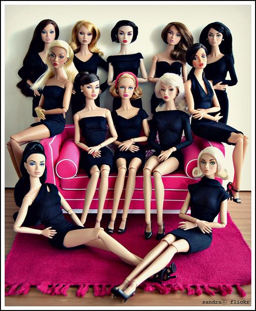 Mi colección de Poppy Parker, en  basics LBD.