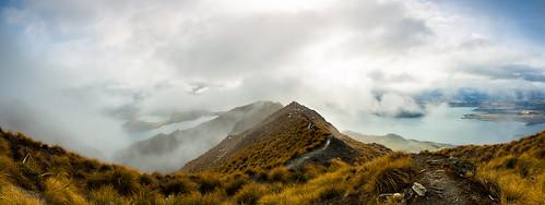new sky panorama sun mountain lake roy grass clouds canon landscape mt view hiking pano peak hike mount zealand summit 5d 1740
