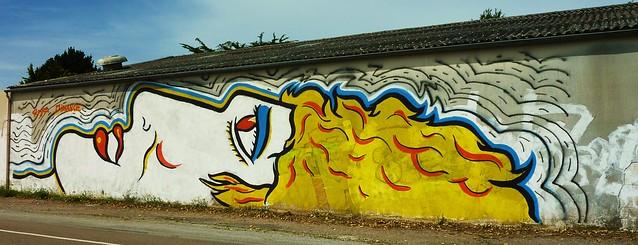 graffiti pornic, clion sur mer