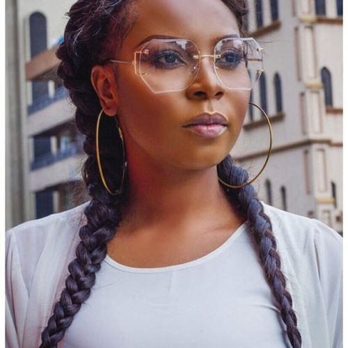 Sexy Black Girl With Big Rimless Glasses And Big Hoop Earr Flickr