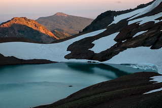Volcanic lake. Broken Top | by Laura Jacobsen