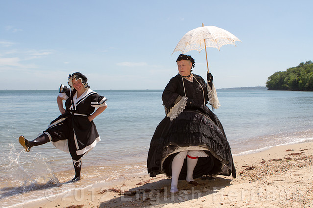 We are not amused - Queen Victoria on the beach at Osborne, Isle of Wight