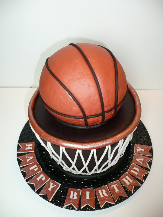 Brilliant Basketball Cake By Yvonne C Twin Cities Mn Birthdayc Flickr Funny Birthday Cards Online Elaedamsfinfo