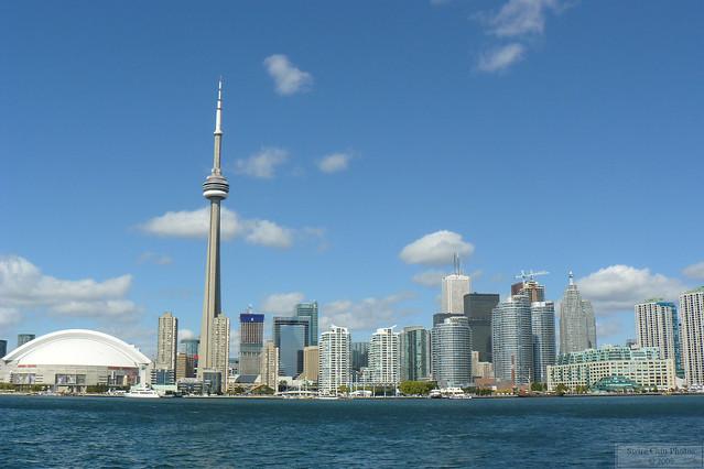 Skydome, CN Tower and Downtown Toronto