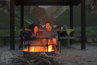 Enjoying the sagebrush fire