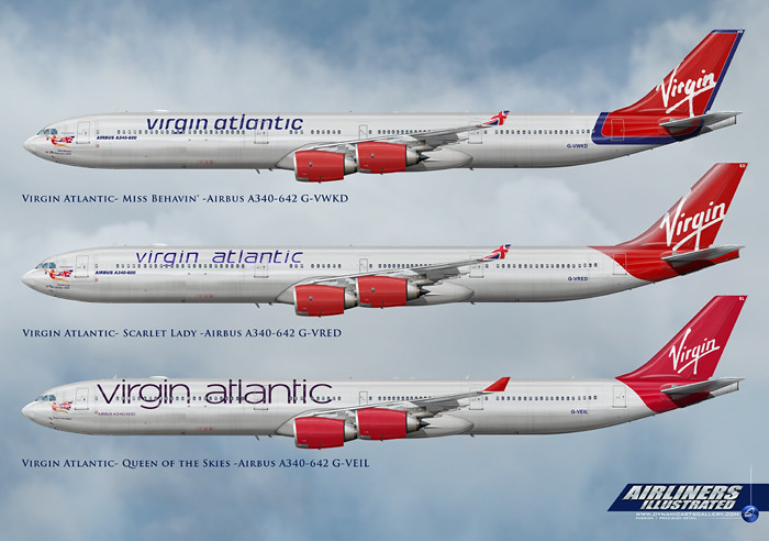 Virgin Atlantic Airbus A340-600 Liveries | Realistic Airline