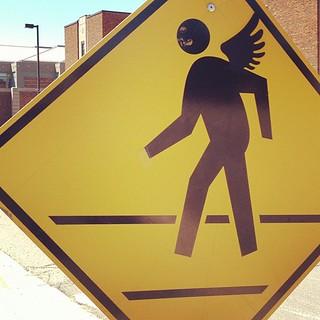 Angel crossing. | by toomanycommas