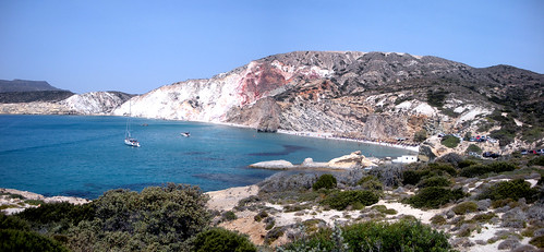 Panoramic view of Fyriplaka - Milos | by kanenas.net