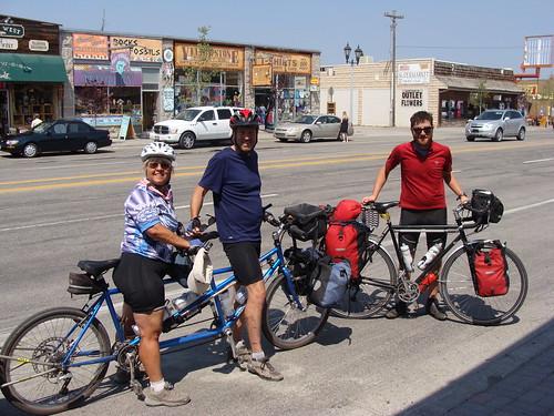 DSC08110 Randy, Nancy and Alex in West Yellowstone   by Hobobiker
