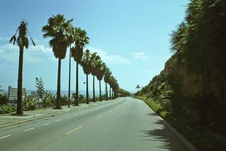 The main road outside Parque de Montjuich