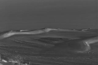 desert dunes at night
