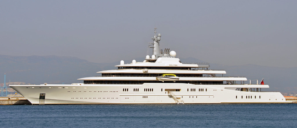 M Y Eclipse Superyacht Berthed At The Detached Mole Gibra Flickr